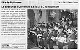 article Ouest-France concert -conducted by Evelyne Béché