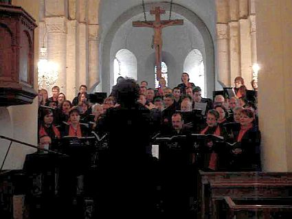 concert of the Choir of the University of Maine, conducted by Evelyne Béché, Church of Chevillé (Sarthe, France), 21 march 2010
